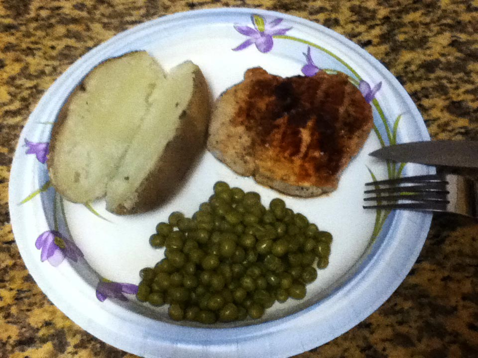 Simple Pork Chops Meal from Jeter   StudentsCookIT